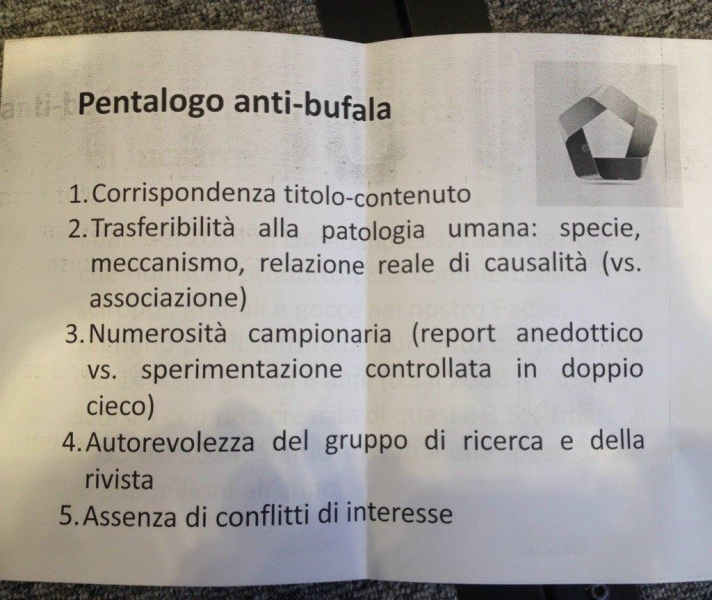 pentalogo anti bufala
